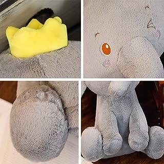 Lovely Stuffed Animal Toys Gift - Cute Plush Elephant Dolls Animated Grey/Pink Elephant for Kids, 23.6''