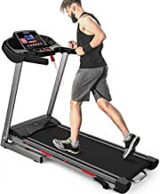 Merax Heavy Duty Treadmill with Wide Shock-Absorbing Running Board, Large LCD Panel and Shortcut Buttons