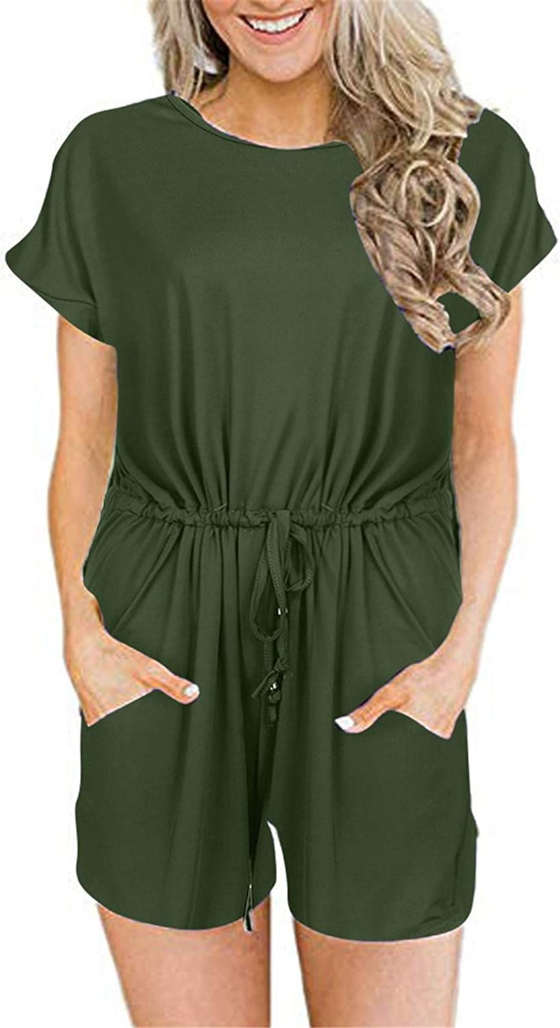 Wadonerful Plus Size Jumpsuits for Women Casual Summer Sleeveles
