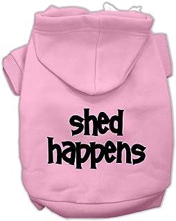 سترة بغطاء رأس للحيوانات الأليفة مطبوع عليها Shed Happens من ميراج بت برودكتس، 50.8 سم، وردي فاتح