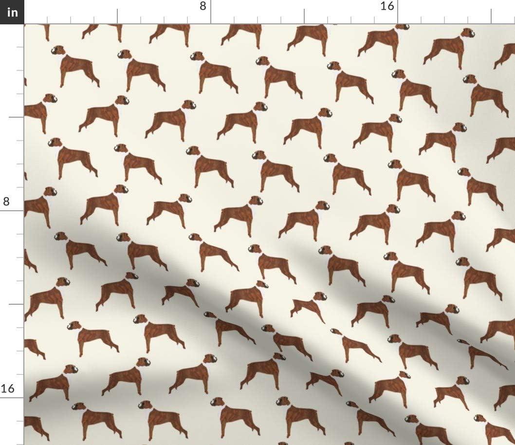 Spoonflower Fabric - Boxer Dogs Cute 超美品再入荷品質至上 on Denim Pet Breeds Printed 保証