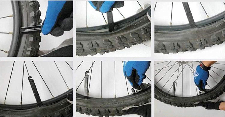 SCK 2 Pack 20 Inch Bike Tubes Plus 2 Tire Levers, 20x1.75/1.95/2.10/2.125 Schrader Valve MTB Bike Inner Tubes, Black