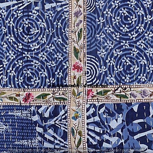 Sortiment von Patchwork blau Indigo Deko...