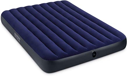 Intex Classic Downy Inflatable 68759 Queen AirBed with MANUAL Air Pump