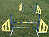 2x Agility Hurdle Jump Set (Twinpack), orig. Callieway® Agi Jump Dog Pro, including 2x2 horizontal bars + transportation bags