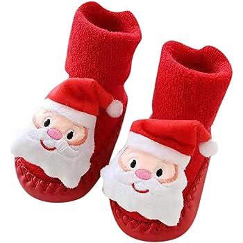 Londony /♥‿/♥ Toddler Newborn Christmas Socks,Baby Boys Girls Floor Socks Anti-Slip Baby Step Socks for 0-24 Months