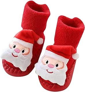 ♥‿♥ Toddler Newborn Christmas Socks,Baby Boys Girls Floor Socks Anti-Slip Baby Step Socks for 0-24 Months