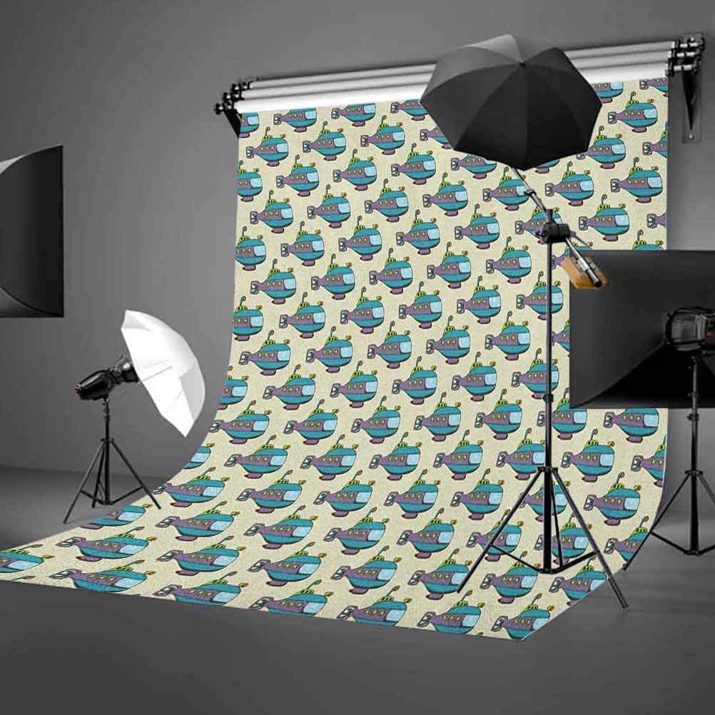 8x12 FT Vinyl Photography Background Backdrops,Vertical Lines in Various Tone with Swirled Stripes with Leaf Forms Cheerful Image Background for Photo Backdrop Studio Props Photo Backdrop Wall