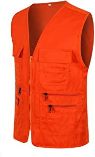 Howely Men Summer Waistcoat Work Safari Fishing Travel Vest with Pockets