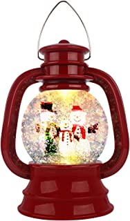 Best [Latest 2020] Christmas Water Glittering Snow Globe Lantern Swirling Dome, Battery Powered Festival Ornament and Gifts for Adults and Children Review