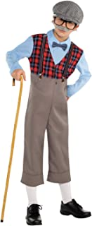 Lingway Toys Kids Little Old Man Costume Pretend to be Grandpa Costume for Boys Medium(6-8)