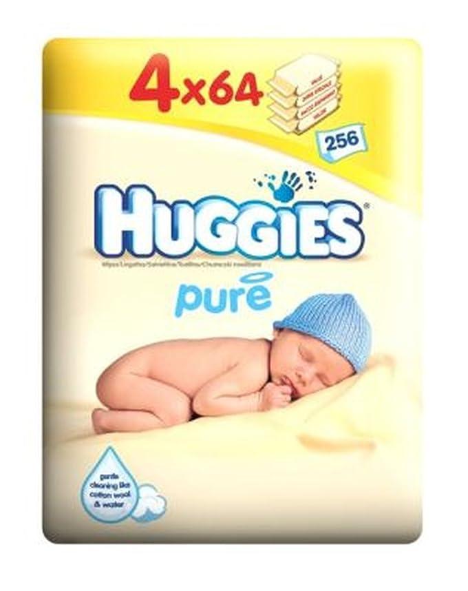 資金常識教授ハギーズ純粋なワイプクアッドパック - 4×64パックワイプ (Huggies) (x2) - Huggies Pure Wipes Quad Pack - 4 x 64 Pack Wipes (Pack of 2) [並行輸入品]