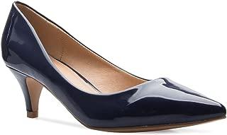 Women's Classic D'Orsay Closed Toe Kitten Heel Pump - Casual, Comfort