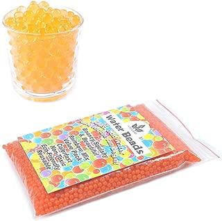 AINOLWAY 8 OZ Water Beads, Original Size Water Gel Bead Jelly Growing Balls for Kids Tactile Toys, Sensory Toys, Vase Filler (Orange)