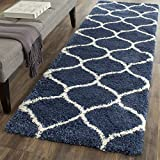 SAFAVIEH Hudson Shag Collection SGH280C Moroccan Ogee Trellis Non-Shedding Living Room Bedroom...