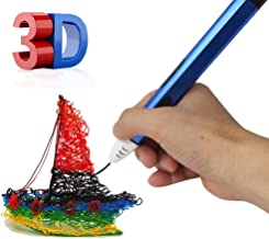 3D Pen, Alyn, for Printing Printer Doodler Drawing Paint Modeling DIY for Art Kids Teens Adults Professionals Gift Education with Free 4 PCL Filament Refill, 16 Feet Each Color (Blue)