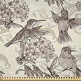 ABAKUHAUS Kolibri Stoff als Meterware, Alte Vögel und