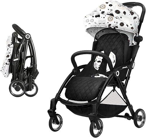 Kinderfürr r Kinderwagen Dreiradfürrad Für Kinder Sonnenwagen Silent Shock Cart 0-3 Jahre Alter Faltwagen Kinderwagen (Farbe   Weiß Größe   73  43  10cm  )