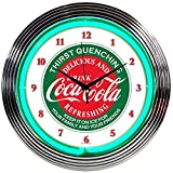 Neonetics Drinks Coca Cola Evergreen Neon Wall Clock, 15'