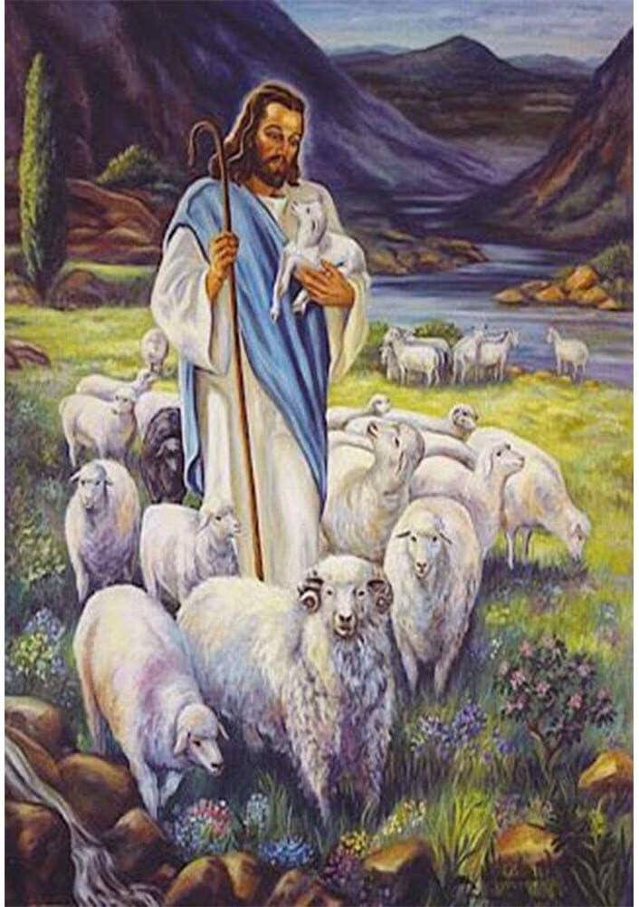 WEWINMON Painting 5d Finally National products popular brand DIY Diamond Jesus F Sheep Religion