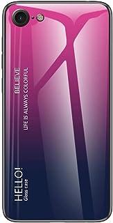 جراب EnjoyCase لهاتف iPhone 6S Plus/6 Plus، غطاء خلفي واقي من الزجاج المقوى 9H بإطار من السيليكون الناعم رفيع للغاية، متدر...