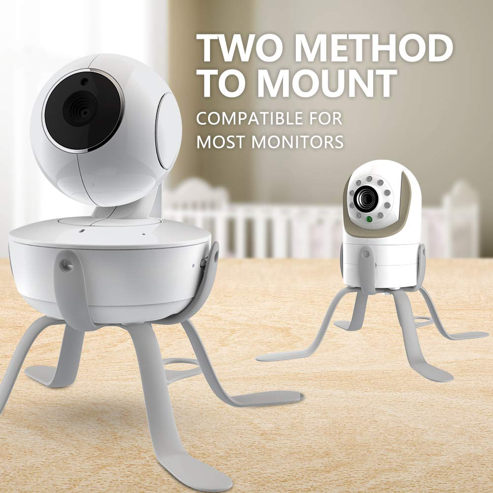 ChillaxBaby Universal Baby Monitor Mount - Adjustable Small Baby Camera Mount - Baby Monitor Holder Compatible with Motorola Baby Monitor, Infant Optics DXR 8 & Most Brands - Strong Baby Monitor Stand