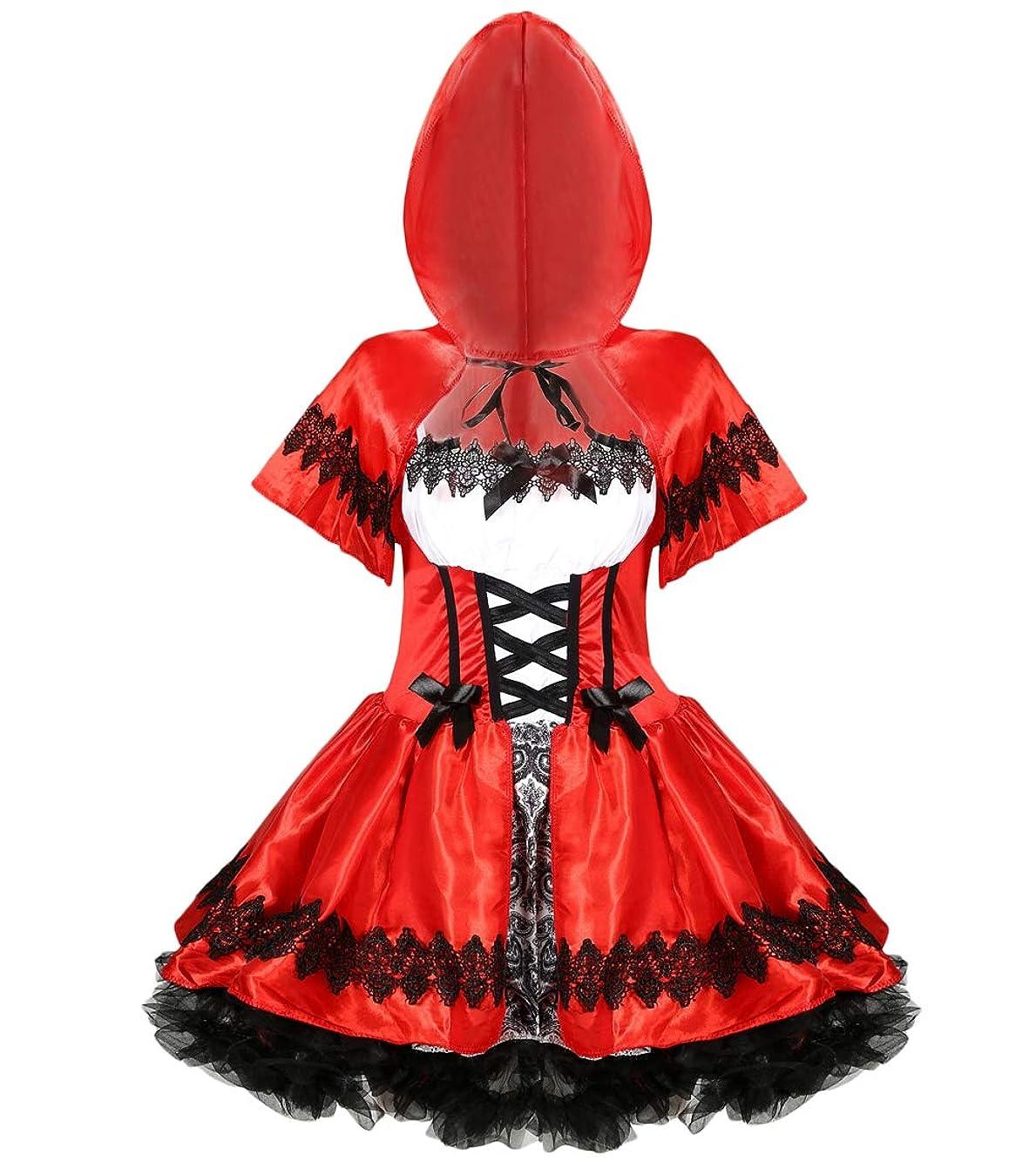 おしゃれじゃない冬威信Dawwoti レディースハロウィンコスチュームダンスのための赤ずきんちゃんミニスカートのすべての設定