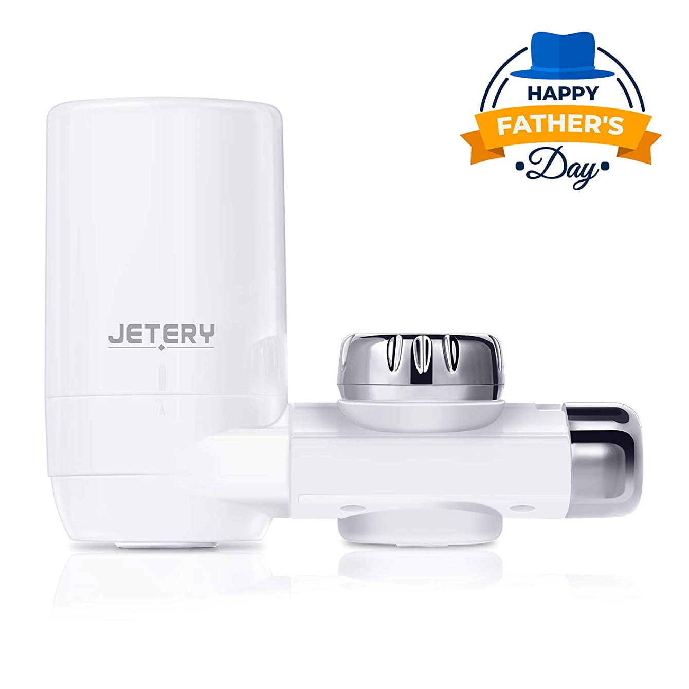 JETERY Faucet Water Filter - 320-Gallon Long-Lasting Tap Water Filtration System with Carbon Fiber Filter for Home Kitchen, Fits Standard Faucets, JT-5110