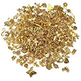 SANNIX 350Pcs Antique Gold Charms Bulk Lots Jewelry Making Charms Assorted Pendants for DIY Necklace Bracelet Earring Making and Crafting