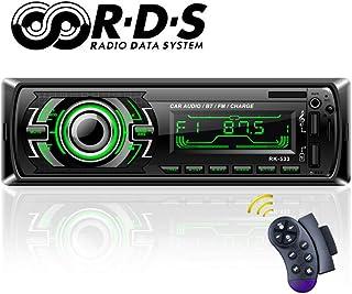 Autoradio Bluetooth TOYOUSONIC Radio Universal para Coche FM/RDS Llamadas Manos Libres Car Stereo 7 Luces LED de Color Carga Rapida USB/SD/AUX con Control Remoto del Volante