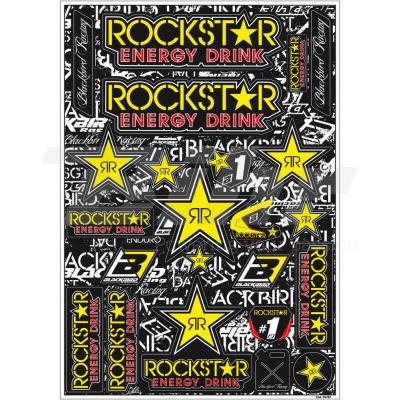 BLACKBIRD RACING - 89873/54 : Kit adhesivos calcas pegatinas decorativas Rockstar Energy 5076L