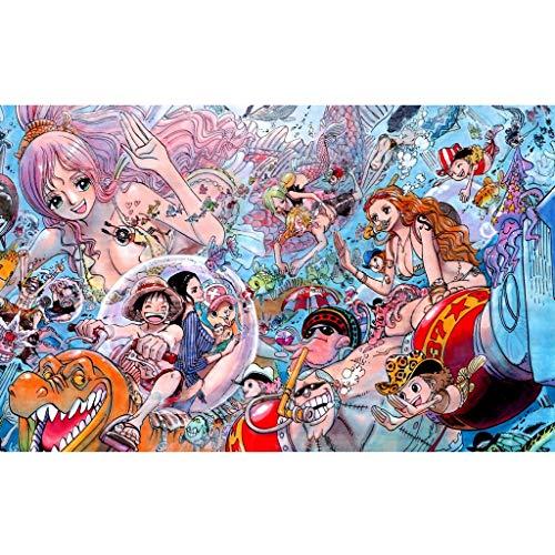 Puzzle - One Piece 300/500/1000/1500 Pedazo For La Navidad De Los Niños De Regalo Juguetes Educativos Puzzles Pegatinas Puzzle (Color : A, Size : 500PC)