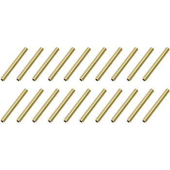 uxcell Brass Round Tube 3mm OD 0.5mm Wall Thickness 30mm Length Seamless Pipe Tubing for DIY Crafts 10 Pcs
