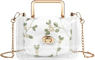 LinkIdea Clear Purse Bag, Purses and Handbags, 2 in 1 Transparent Shoulder Crossbody Bags for Women