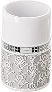 (Tumbler) - Creative Scents Mirror Damask Bathroom Tumbler Cup, Decorative Rinse Cup for Water, Best Tumblers for Mouthwas...