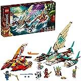 LEGO NINJAGO Battaglia in Mare dei Catamarani, Playset con 4 Barche Giocattolo e Minifigure di Jay e Zane, 71748