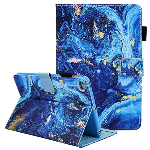 Case for iPad Mini 5th Gen 7.9 Inch Tablet, iPad Mini 4 3 2 1 Cover Shell, Coopts Premium PU Leather Stand Folio Smart Case with Pencil Holder for iPad Mini 5th 4th 3rd 2nd 1st Gen Tablet, Blue Marble