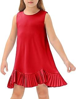 Grace Karin - Vestido sin mangas para niña (cuello redondo, suave y ligero)