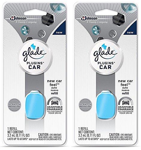 Glade Plugins Car Refill - New Car Feel - Net Wt. 3.2 mL (0.11 FL OZ) Per Refill - Pack of 2 Refills -  S.C. Johnson, 77479