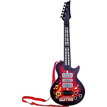 ZUJI Guitarra Juguete, 4 Cuerdas Guitarra Electrica Infantil ...