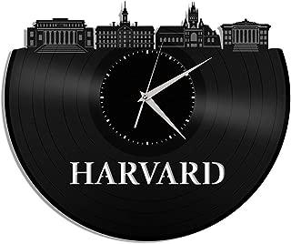 VinylShopUS - Harvard Vinyl Wall Clock University Souvenir Anniversary Vintage Room Decoration