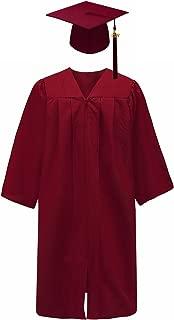 Unisex Adult Matte Graduation Gown Cap with Tassel 2018&2019, 13 Colors