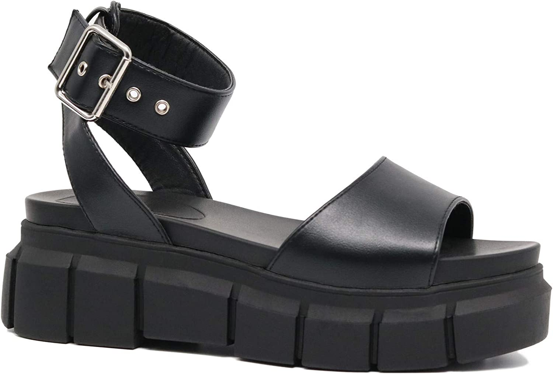 TRUFFLE Women's Platform Sandals Espadrille Strap Ranking TOP4 Ankle Wedge Popular brand in the world St