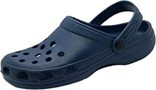 Men's Pool Beach Garden Slip On Clogs Mules Sandals Sliders Blue
