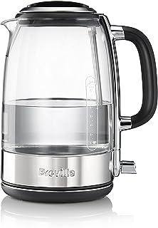 Breville VKT074X Hervidor, jarra de cristal, 2400 W, 1.7 litros, Vidrio, Transparente y gris