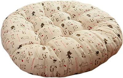 Amazon.com: Cojín de suelo redondo de estilo japonés, de ...