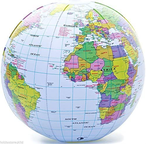 Inflatable NEW Globe Blow Up World Las Vegas Mall Atlas Bl Ball Earth Map