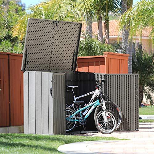 Lifetime Mülltonnenbox Kunststoff Mülltonnenbox, Gerätebox, Aufbewahrungsbox Dunkelgrau - 6