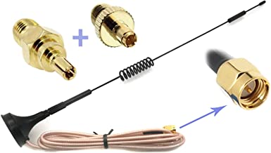 Universal Kit of 3G 4G LTE Dipole Antenna Wide Band 7dBi 698-2700Mhz Omni Directional GSM on Magnetic Base RG316 3ft/0.9m Low Loss Cable with SMA Female to TS-9 and CRC9 for any Devices as Verizon