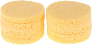 Lurrose 10 Pcs Compressed Facial Sponges,Natural Cellulose Exfoliating Facial Sponges Cosmetic Beauty Sponges for Makeup R...